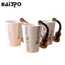 BAISPO Persönlichkeit Musik Becher Neuheit Gitarre Keramik Tasse Milch Saft Zitrone Tasse Kaffee Tee Home Office Drink Geschenk Becher