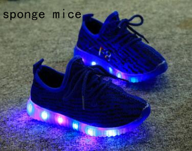 2017-sponge-mice-brand-children-boys-and-girls-breathable-LED-light-shoes-casual-shoes-2