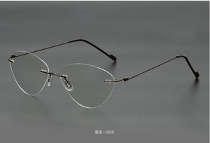 Image 5 - Cat eye titanium rimless Reading Glasses ultra light women alloy Rimless reading eyeglasses Presbyopic glasses +0.50 to +6.00