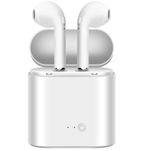 Free Shipping i7s Bluetooth Earbuds Wireless auriculares Headsets Stereo In-Ear Earphones With Charging Box for ios and Android