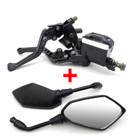 Motorcycle accessories universal Motorcycle rearview mirror For bmw k1200r honda vfr 800 victory model ship yamaha tzr 50