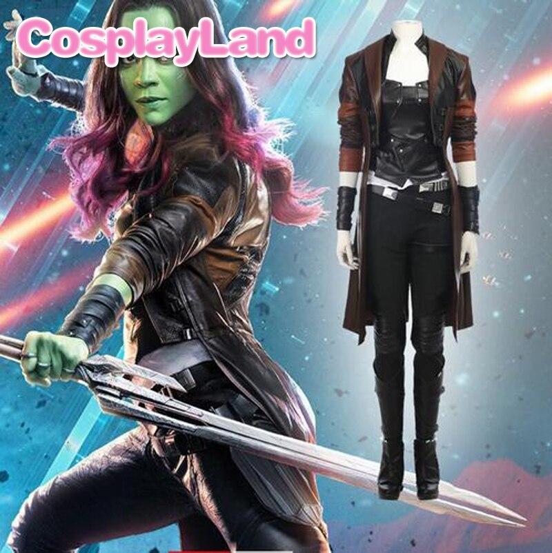 Guardians of the Galaxy 2 Gamora Cosplay Costume Superhero Halloween - Կարնավալային հագուստները