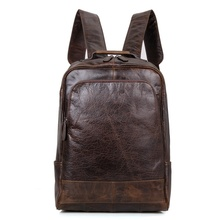 JMD Genuine Cow Leather Mens Laptop Backpack For Student School Backpacks 7347C new cow genuine leather men backpacks fashion real natural leather student backpack boy luxury brand lager computer laptop bag