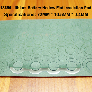 Image 2 - 100pcs/lot Combination Insulation Gasket Meson 18650 Hollow Flat Hibiscus Paper Insulation Mat 4 18650 Lithium Battery