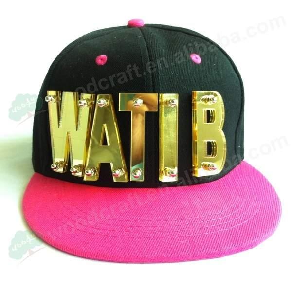 Hiphop crystal acrylic letter BITCH WATI B HAT new hiphop baseball cap  studded hats custom hats 6a0109e5c76b