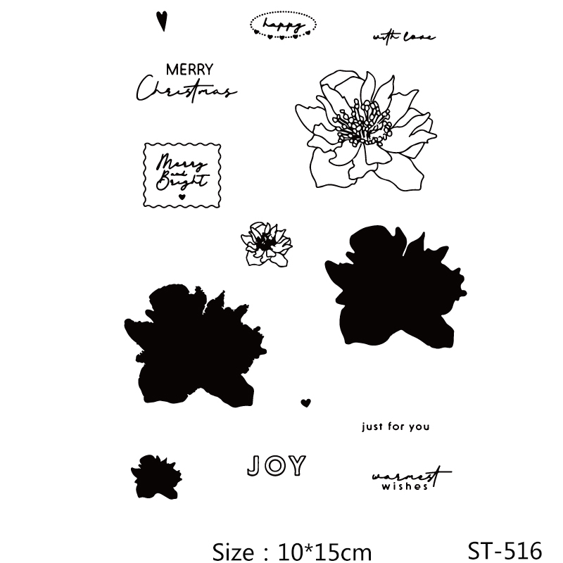 AZSG Flowers Petals Mark Clear Stamps/Seals For DIY Scrapbooking/Card Making/Album Decorative Silicone Stamp Crafts