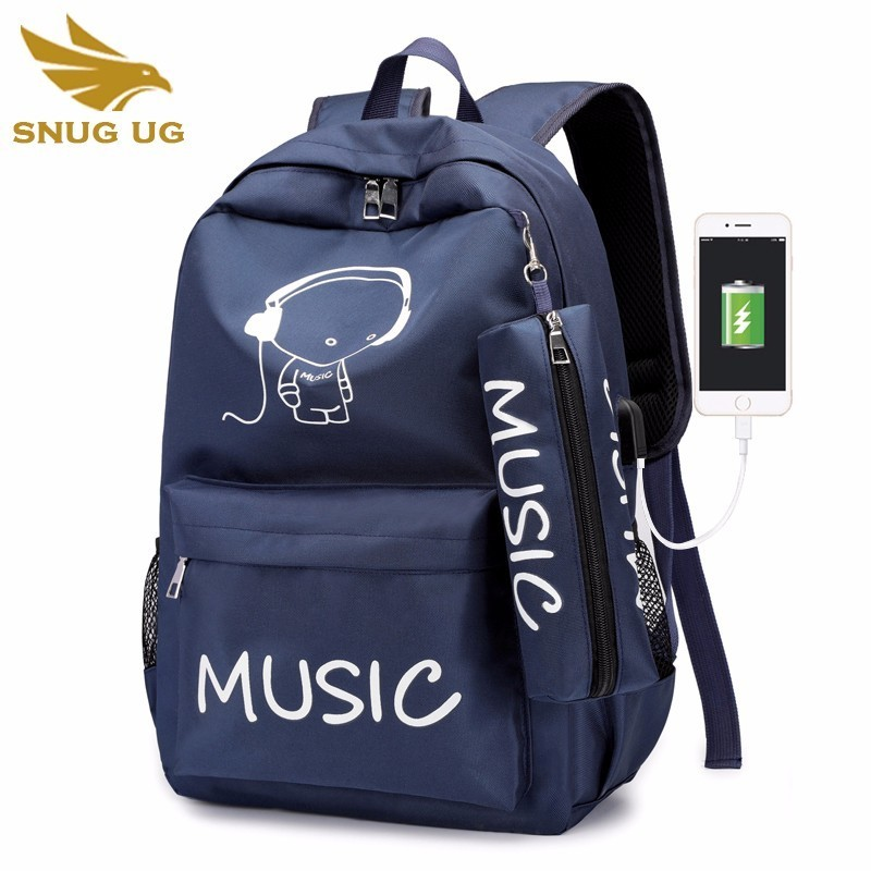 Anime Luminous School Backpack For Boy Men Student Daypack Shoulder Under With Usb Charging Port And Lock Cartoon School Bag