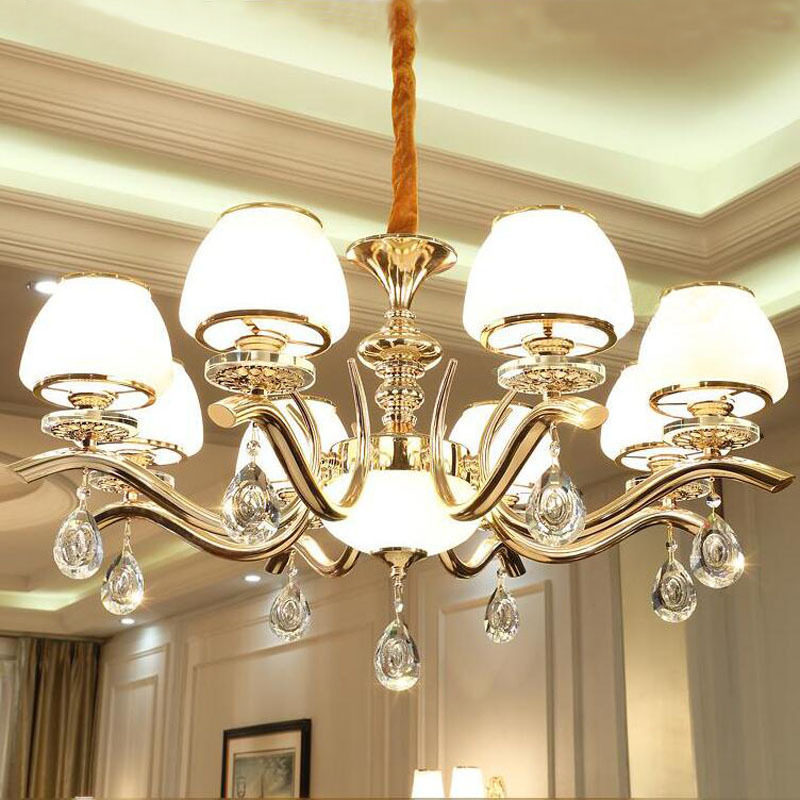 Crystal Chandelier Glass Lighting Fixture European Iron Chandeliers Kronleuchter decorative-candles Cristal Chandeliers CeilingCrystal Chandelier Glass Lighting Fixture European Iron Chandeliers Kronleuchter decorative-candles Cristal Chandeliers Ceiling