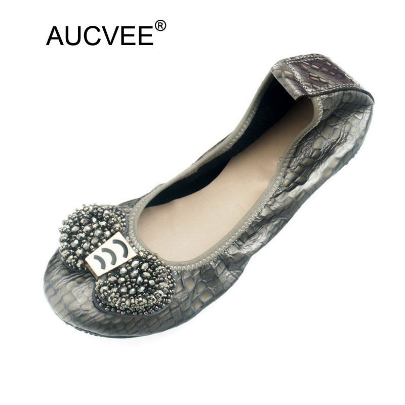 Plus Size 34 43 Women Ballet Flats Genuine Leather Women Loafers Shallow Mouthe Ladies Nurse Work