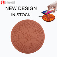 LEEGOAL New Design Pattern Glowing Magic Array Wireless Charger Universal 5W 10W Qi Fast Charger Change Stand pad for Smartphone