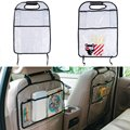 TransparentThicken Environmental PVC Car Back Seat Protector Kids Child Seats Kicking Mat For ,With Organizer For Ipad and Drink