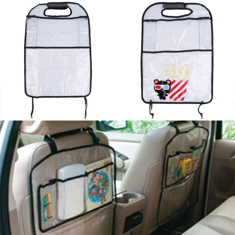 transparentthicken environmental pvc car back seat protector kids child seats kicking mat for with organizer
