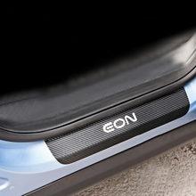 Для Hynudai Eon Накладка на порог двери автомобиля порога Шаг пластина из углеродного волокна из искусственной кожи автомобиль-Стайлинг