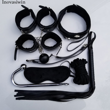 Sex Toys for Couples Exotic Accessories Leather BDSM Bondage Set Vibrator Handcuffs Whip Rope Products Adult games