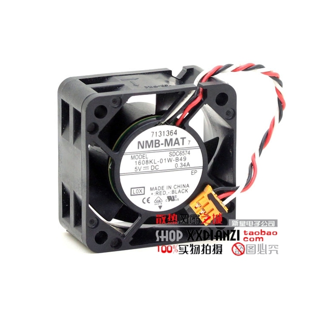 Original 5V 0.34A 1608KL-01W-B49 4020 4CM switch fan server fan