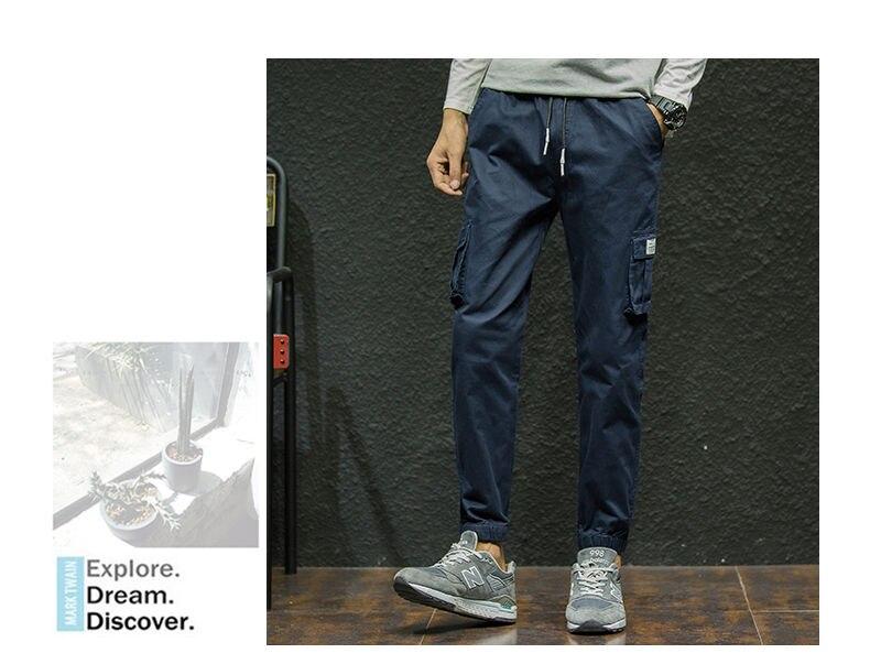 7XL Cargo Pants Men Quality Cotton Pencil Pants Male Washed Slim Fit Pants Mens Trousers Korean Brand MuLS Plus Size Casual Pant 15
