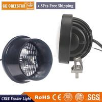 GDCREESTAR 40W LED Tractor Light Offroad SUV Car truck Boat 4WD 4x4 Truck ATV Auto Headlight Flood bulbs 12V 24V x8pcs/lots