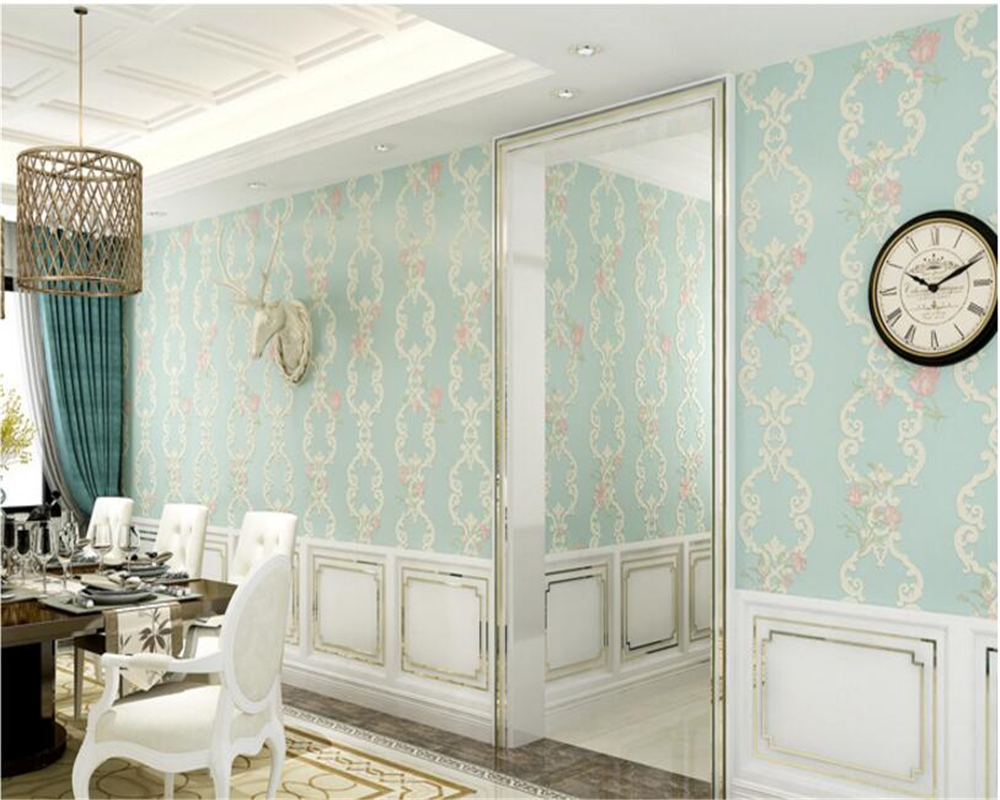 beibehang Wallpaper Stereo papel de parede Simple Nonwoven Pastoral Warm Wedding Room Full House Bedroom Living Room wall paper beibehang wall paper pune continental nonwoven shop for retro wallpaper ranunculus sweet potato leaves the bedroom living room
