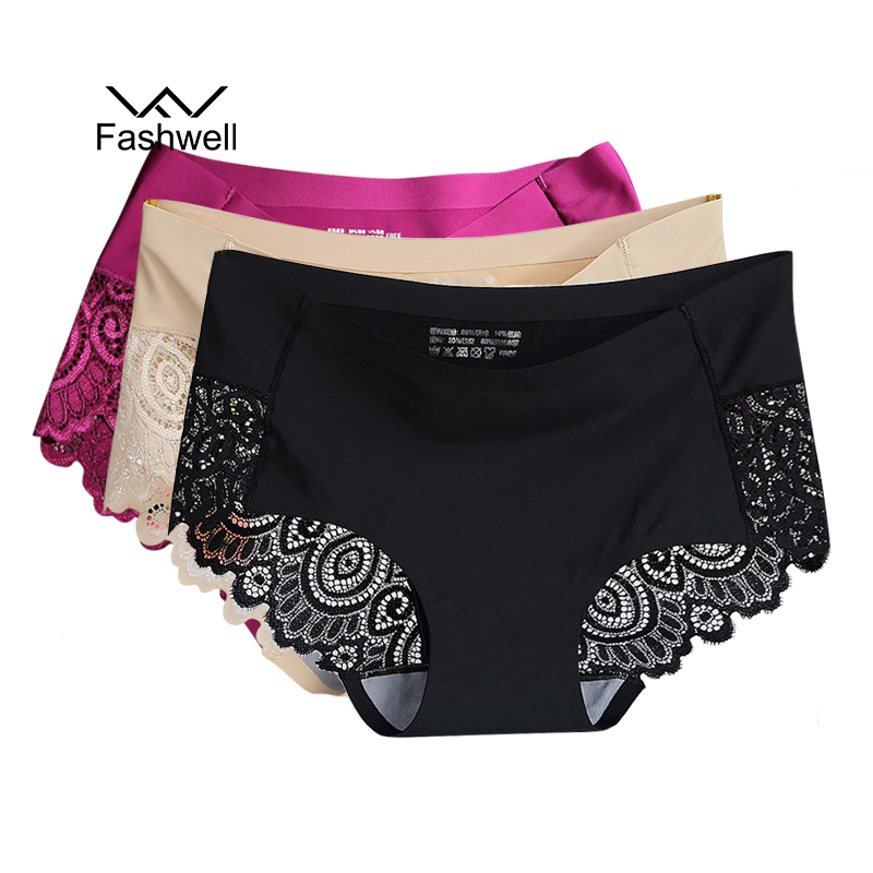 Sexy Ultra-Thin Tanga Comfort Ice Silk Panties Lingerie Women Underwear Seamless Transparent Panties Briefs 3Pcs/Lot