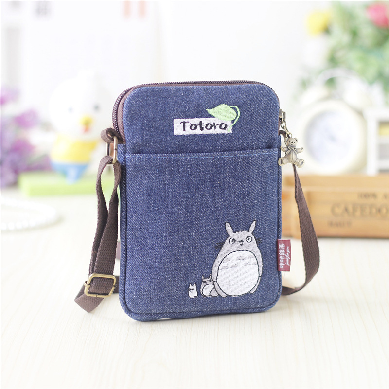 2017 Nye jenter Cute Totoro skulderveske Cartoon Bear Coin Purse Mini Messenger Vesker Kids Gift Female Clutch Purse Phone Bag