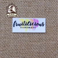 120 Custom Logo Labels Brand Labels Personalized Name Tags For Children Iron On Custom Clothing Labels