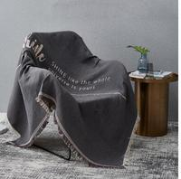 Nordic simple double sided sofa towel Sand release full cover sofa cover dust cover double line blanket