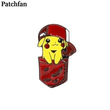 Pocket monster Pikachu Metal Zinc Enamel pins medal insignia para backpack shirt clothes bag brooches badges for men women A2115(China)