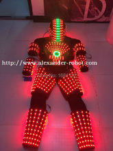 LED Costume /LED Clothing/Light suits/ LED Robot suits/ Kryoman robot/ david robot / custom white, golden robot