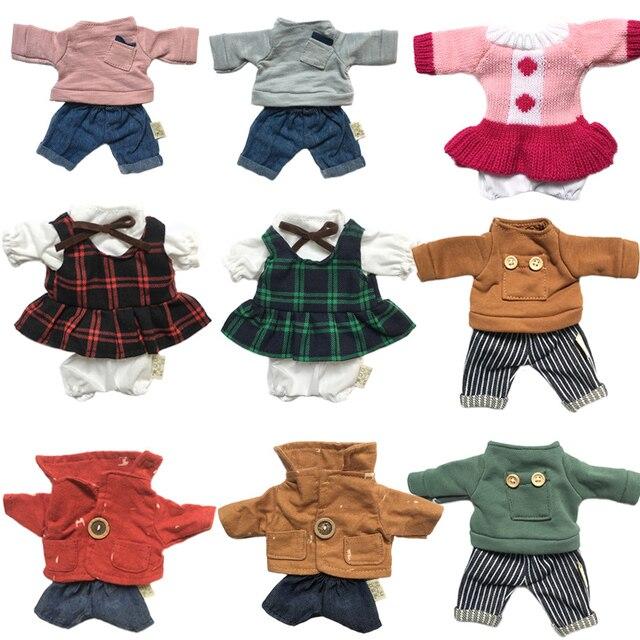 1 pc Boneca Roupas para 30 cm Le Sucre Coelho Urso Brinquedos de Pelúcia Camisola Saia Vestido Casal Terno para 1/6 BJD Bonecas Presentes para As Meninas