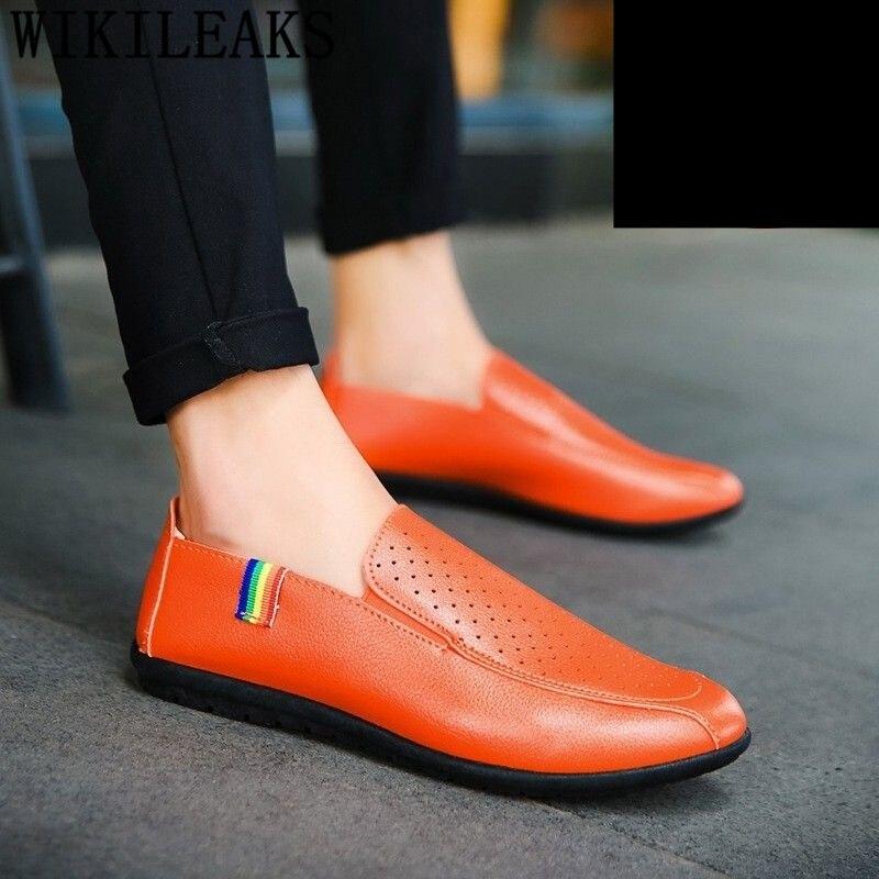 Driving-Shoes Asli Casual-Shoes Men Loafers Comfortable Fashion Mens Sepatu Pria Kulit