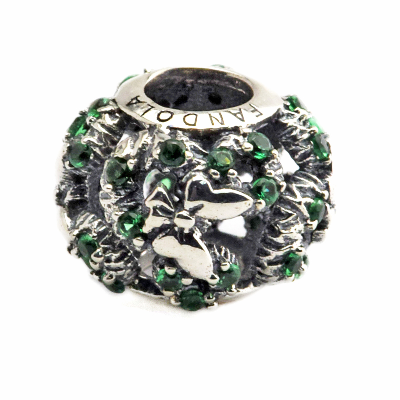 Pandora Jewelry Free Shipping: DIY Fits Pandora Charms Bracelets Mouse Holiday Wreath