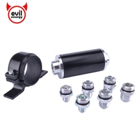 Black Universal High Flow Aluminum Fuel Filter For Motorsport Rally Racing With Fitting An 6 8