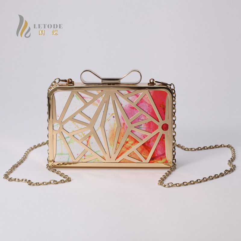 Women Handbags PU Leather Metal Evening Clutch Bag Party Shoulder Bag Messenger & Crossb ...