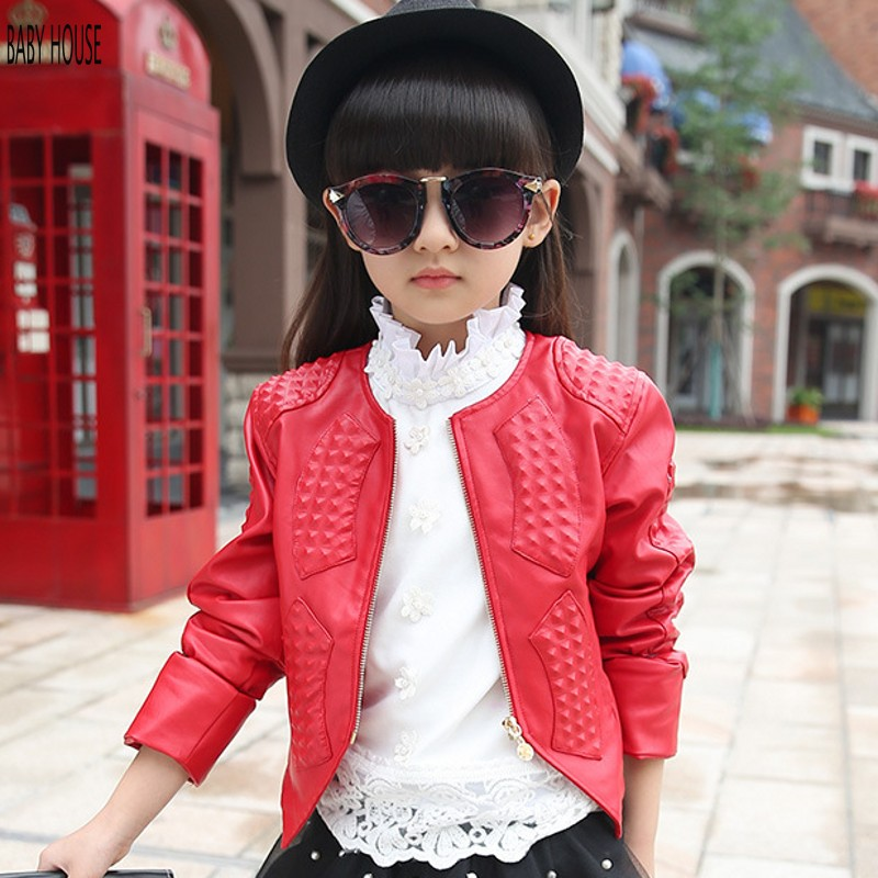 New Autumn Winter Kids Leather Jacket Top Quality Fashion Baby ...