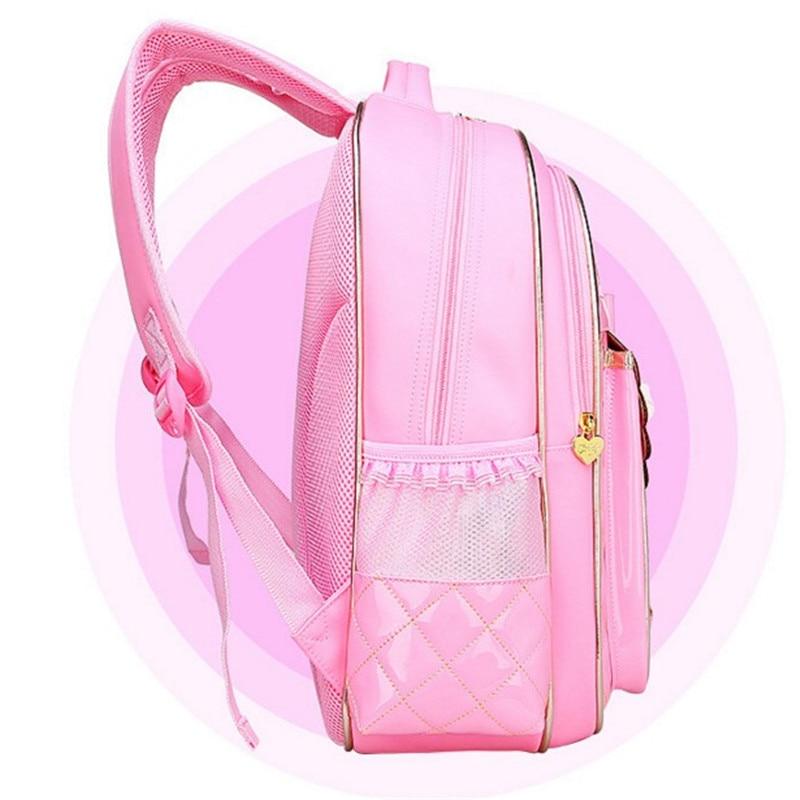 New Cute Children Backpack Grade The pu leather Girls School butterfly backpackO school fashion best waterproof backpack