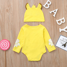 Baby Boys Girl Cartoon Embroidery Romper Outfits Set