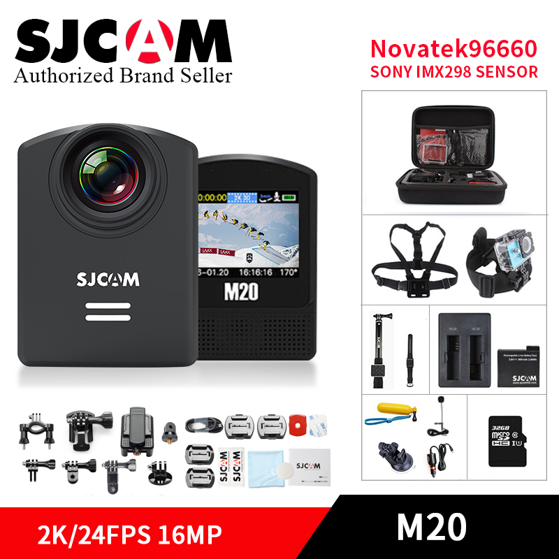 Hot SJCAM M20 Gyro 2K HD 16MP wifi Action Camera SJ CAM Remote control Diving 30M Waterproof Sports helmet kamera Mini camcorder