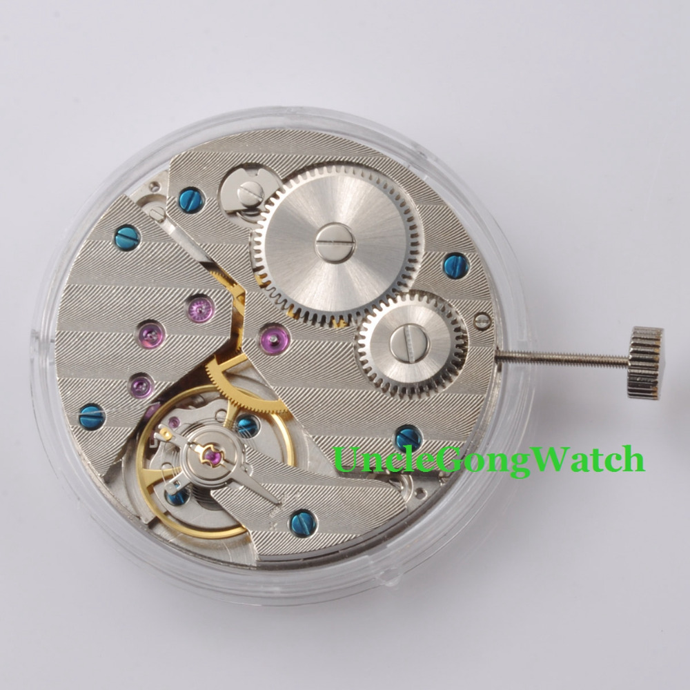 лучшая цена Watch Parts , 17 Jewels 6497 Mechanical Hand Winding Vitage Watch Movement ST3621, Mens Mechanical Wristwatch Part