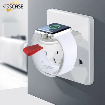 KISSCASE chargeur sans fil pour Apple Watch 4 3 2 1 chargeur adaptateur Portable pour Apple Watch 4 3 chargeur Dock Snel Lader chargeur