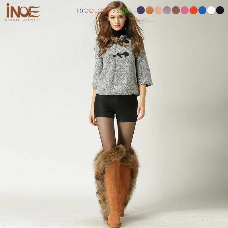 Aliexpress.com : Buy High Quality Fashion girls big fox fur tall ...