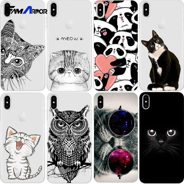 Cat Case Para iPhone 5 Xs Max XR X 8 5S SE 6 6 s 7 Plus Para Xiao mi vermelho mi 4 4A 3 s 3 s Nota 3 4 5A Pro Prime mi 4X A1 5X S2