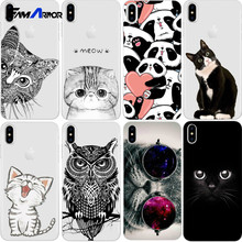 Cat Case For iPhone Xs Max XR X 8 5 5S SE 6 6S 7 Plus For Xiaomi Redmi 4 4A 3S 3 S Note 3 4 5A Pro Prime 4X Mi A1 5X S2(China)