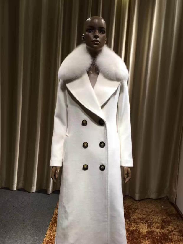 Winter White Cashmere Coat - Sm Coats