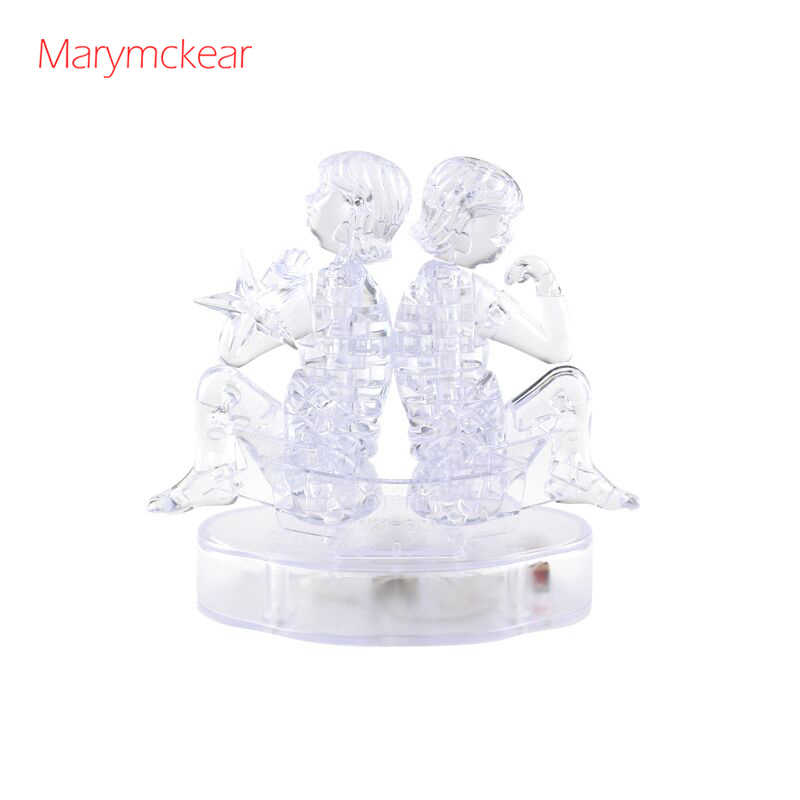 Horoscope Gemini Puzzle Building Puzzle 3d Crystal Puzzle Clear Color Toys for Children and Adult Mentality Toy Puzzles