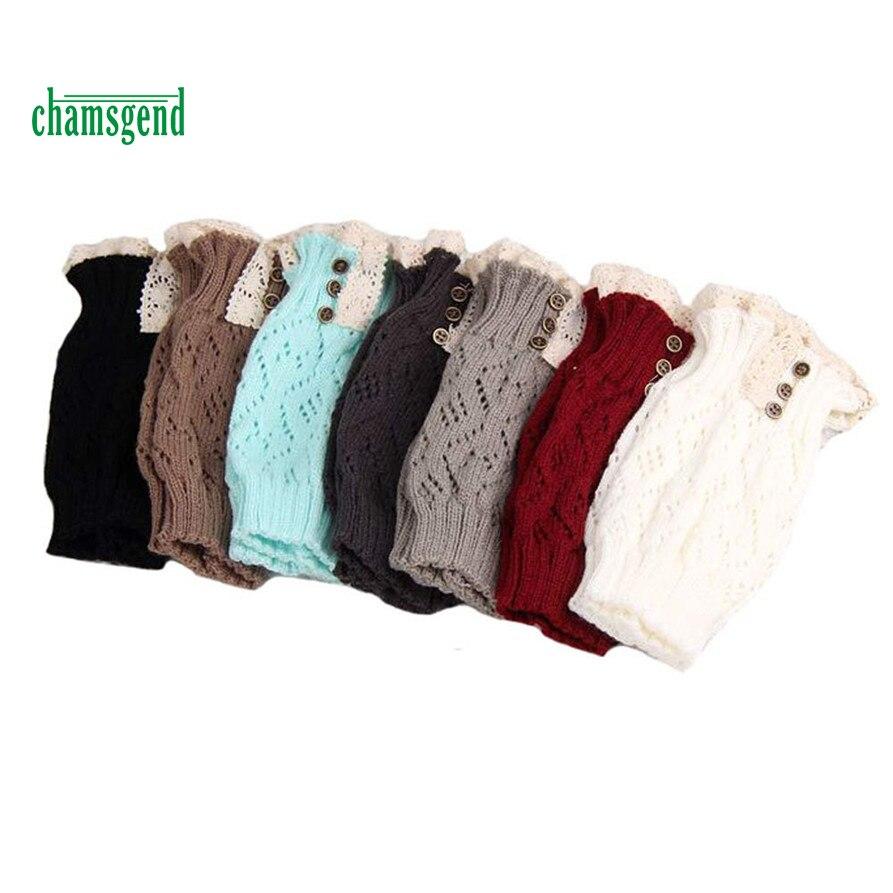 CHAMSGEND WillBeen Soft Women Lace Stretch Boot Leg Cuffs Boot Socks Fashion Jan19