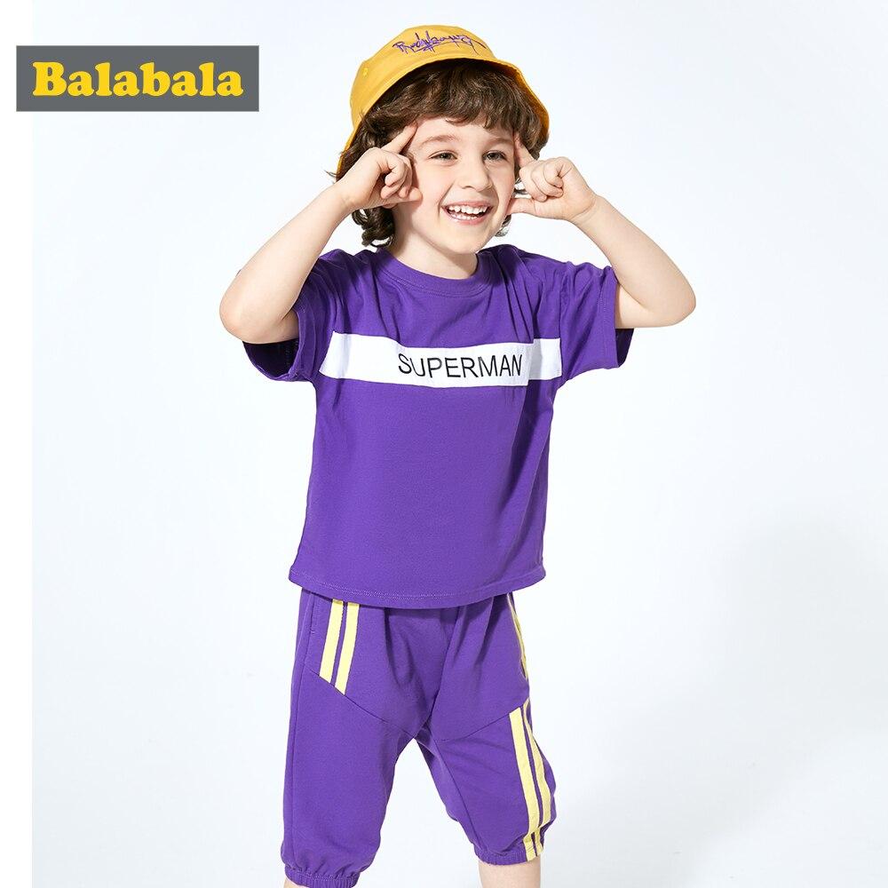 Balabala 2019 bébé garçons vêtements d'été ensemble mignon T-shirt pantalon Boutique tenue pour enfant vêtements enfant en bas âge enfants
