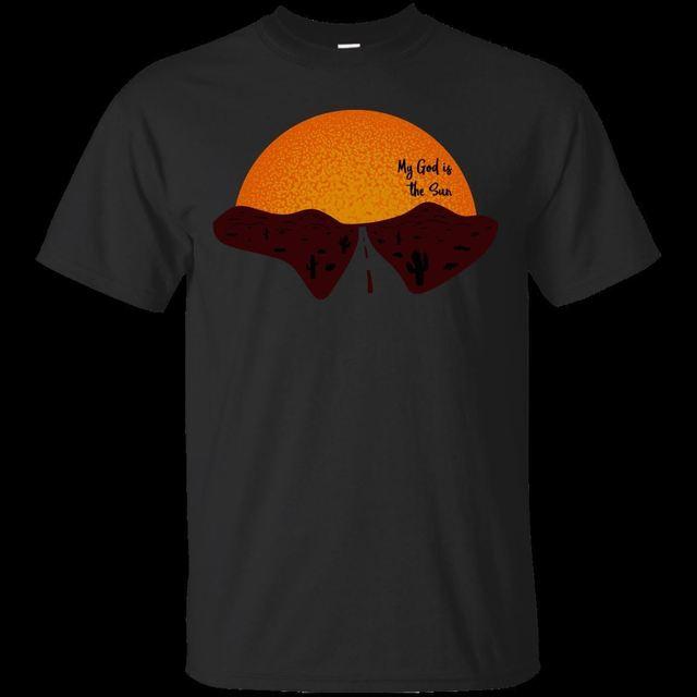 e29b27cb1c4181 My God is the Sun - QOTSA Queens Stone Age Like Clockwork Sun Desert Rock  Tshirt