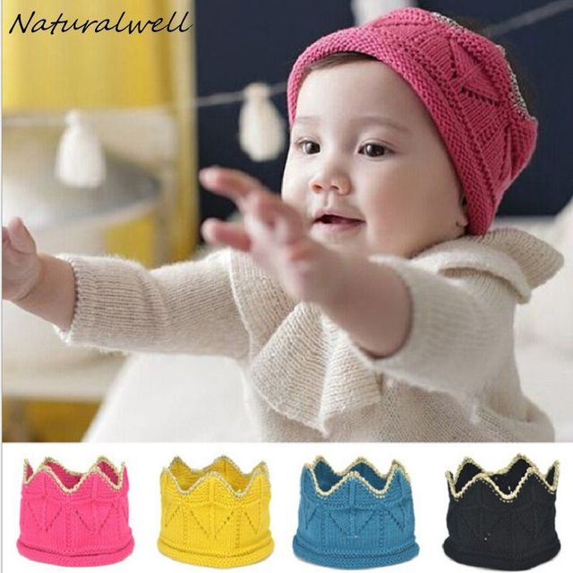 Naturalwell Baby Crochet Crown Hat Pattern Knit Crown headband Head pieces  Accessory Photo Prop Christmas Gift 8dffd2c83a0