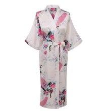 Bathrobe Women Wedding Bride Bridesmaid Robe Nightgown Sleepwear Flower Kimono Gown Plus Size S-XXXL YF3034