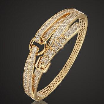 Blucome модный медный браслет для мужчин ювелирные изделия люксовый бренд браслет любви и браслет Лучший Цирконий Pulseira аксессуары >> zlxgirl GZoffice Store